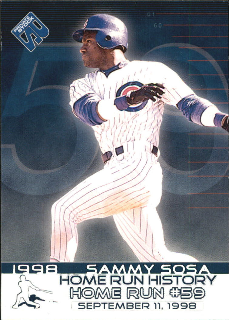 1999 Private Stock Home Run History #2 Sammy Sosa 59