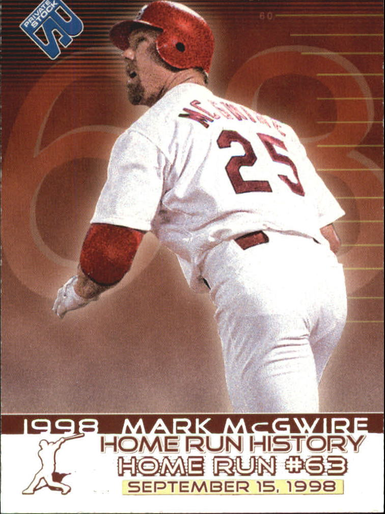 1999 Private Stock Home Run History #5 Mark McGwire 63