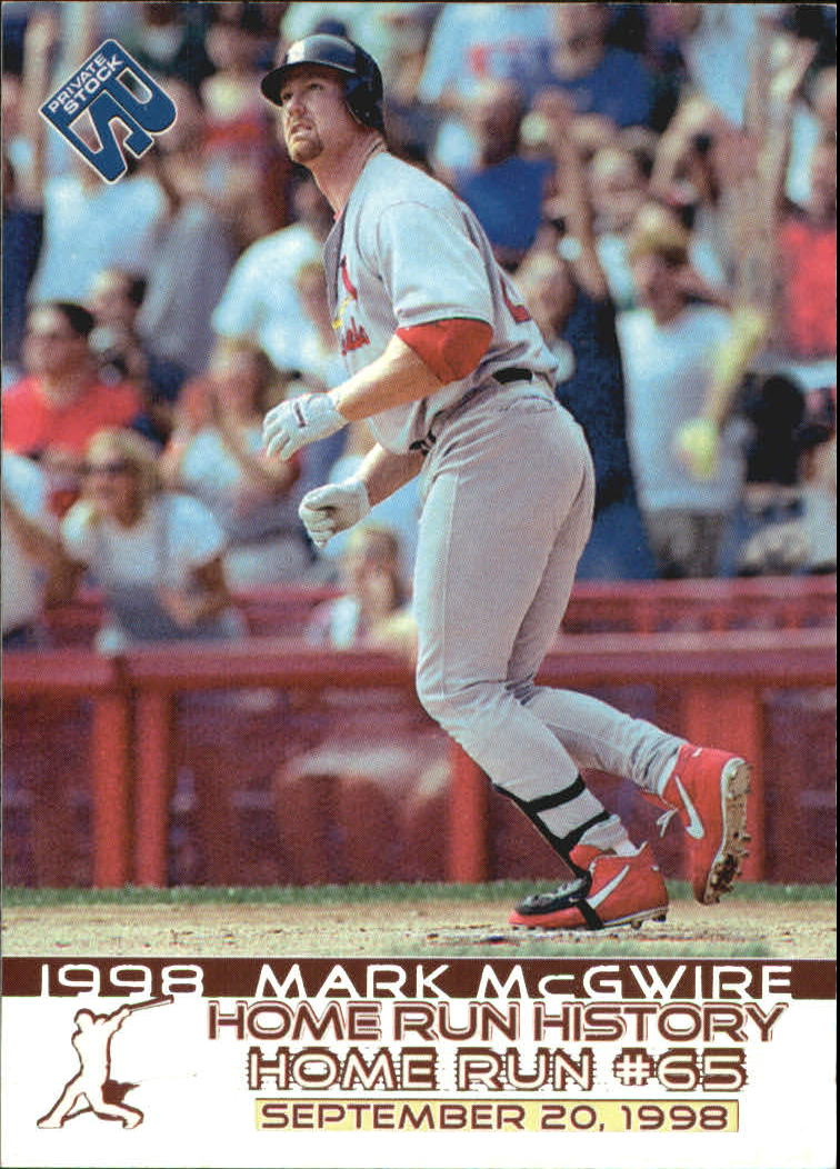 1999 Private Stock Home Run History #9 Mark McGwire 65