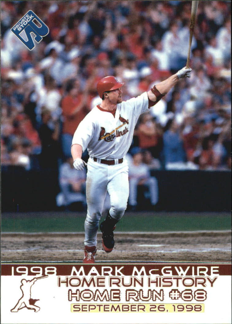 1999 Private Stock Home Run History #13 Mark McGwire 68