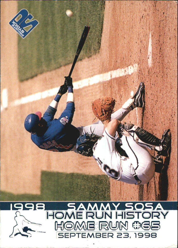 1999 Private Stock Home Run History #14 Sammy Sosa 65