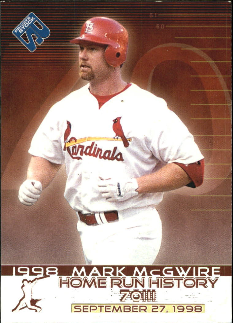 1999 Private Stock Home Run History #15 Mark McGwire 70