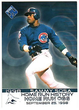 1999 Private Stock Home Run History #16 Sammy Sosa 66