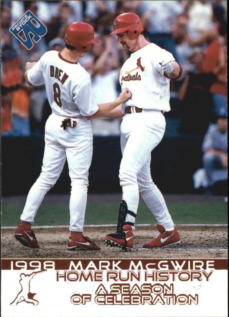1999 Private Stock Home Run History #17 M.McGwire w/J.D.Drew