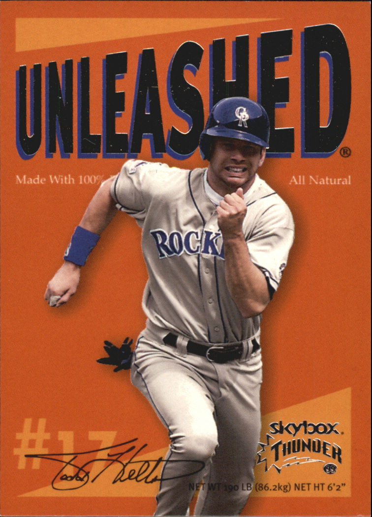 1999 SkyBox Thunder Unleashed #U9 Todd Helton