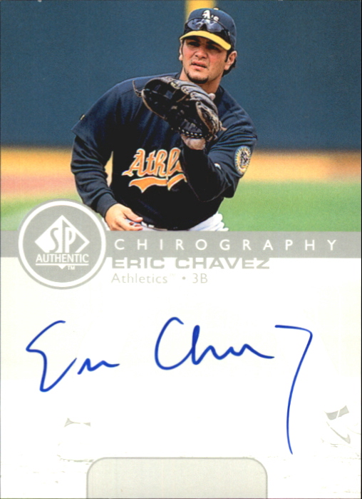 1999 SP Authentic Chirography #EC Eric Chavez