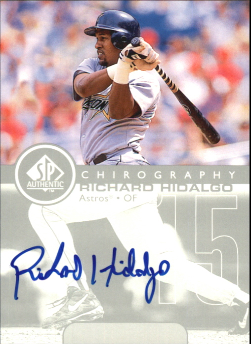 1999 SP Authentic Chirography #RH Richard Hidalgo