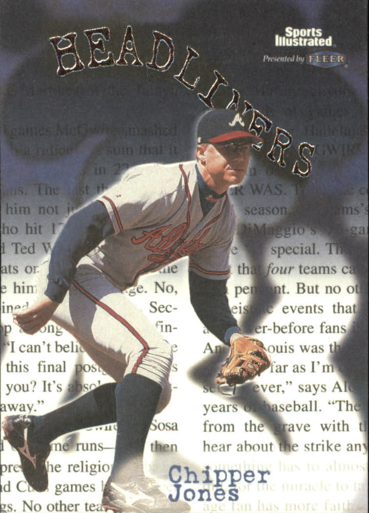1999 Sports Illustrated Headliners #4 Chipper Jones