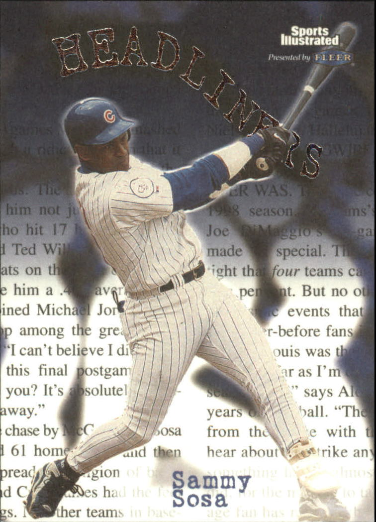 1999 Sports Illustrated Headliners #22 Sammy Sosa