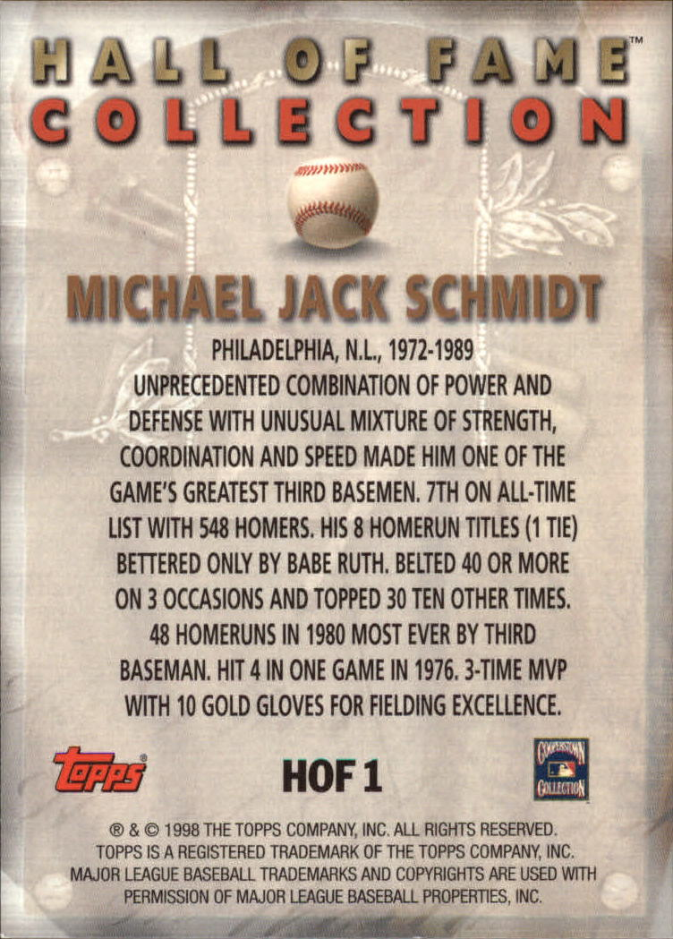 1999-Topps-Hall-of-Fame-Collection-Baseball-Cards-Pick-From-List thumbnail 3