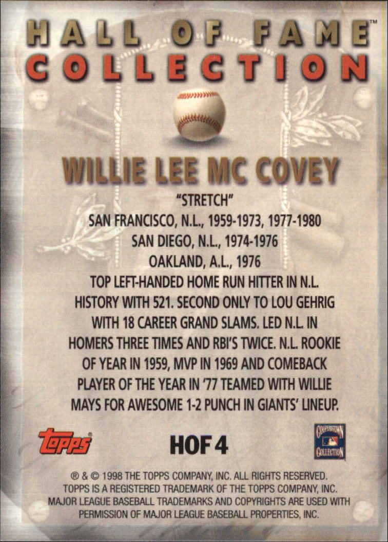 1999-Topps-Hall-of-Fame-Collection-Baseball-Cards-Pick-From-List thumbnail 9