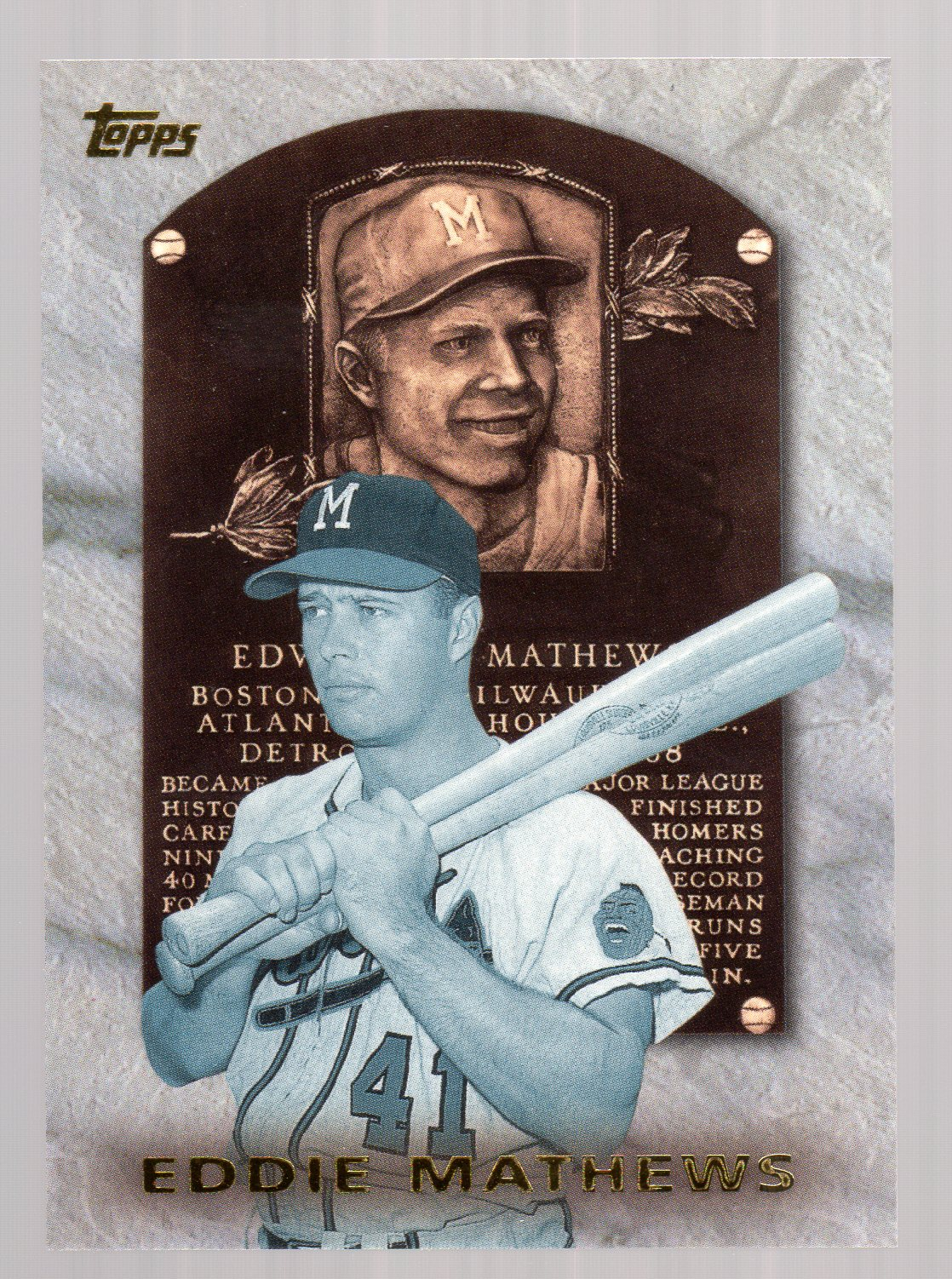 1999 Topps Hall of Fame Collection #HOF5 Eddie Mathews front image