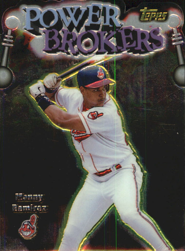 1999 Topps Power Brokers #PB18 Manny Ramirez
