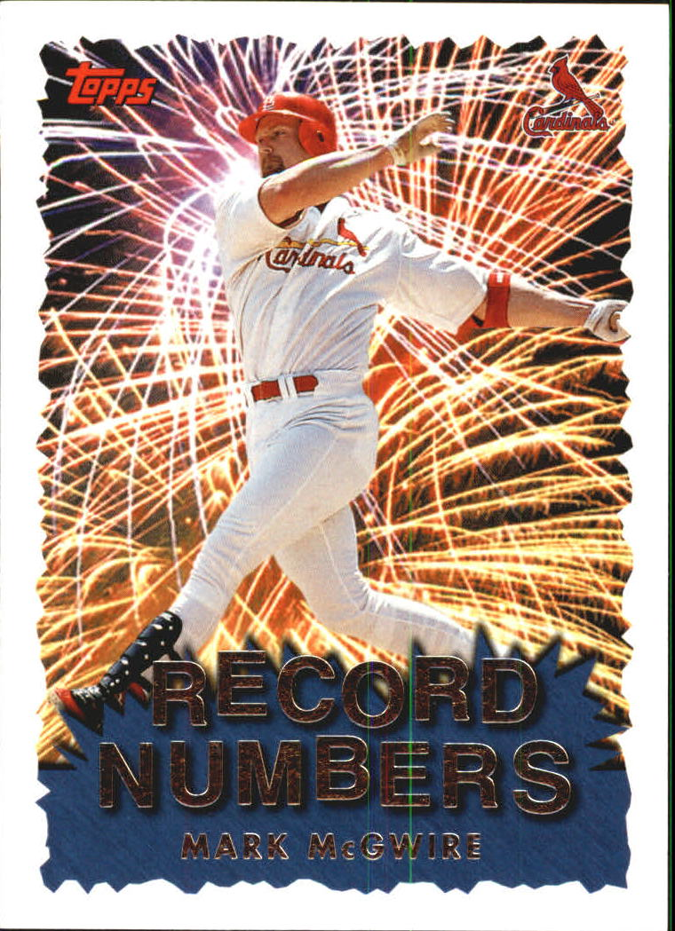 1999 Topps Record Numbers #RN1 Mark McGwire