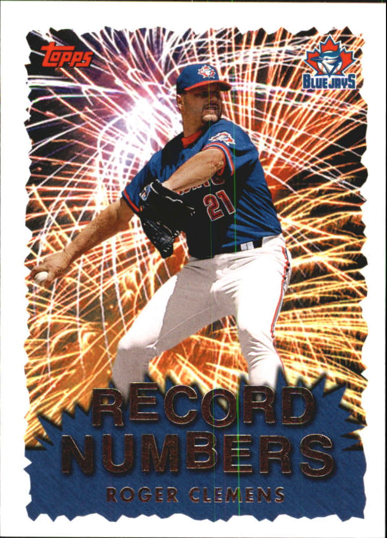 1999 Topps Record Numbers #RN8 Roger Clemens