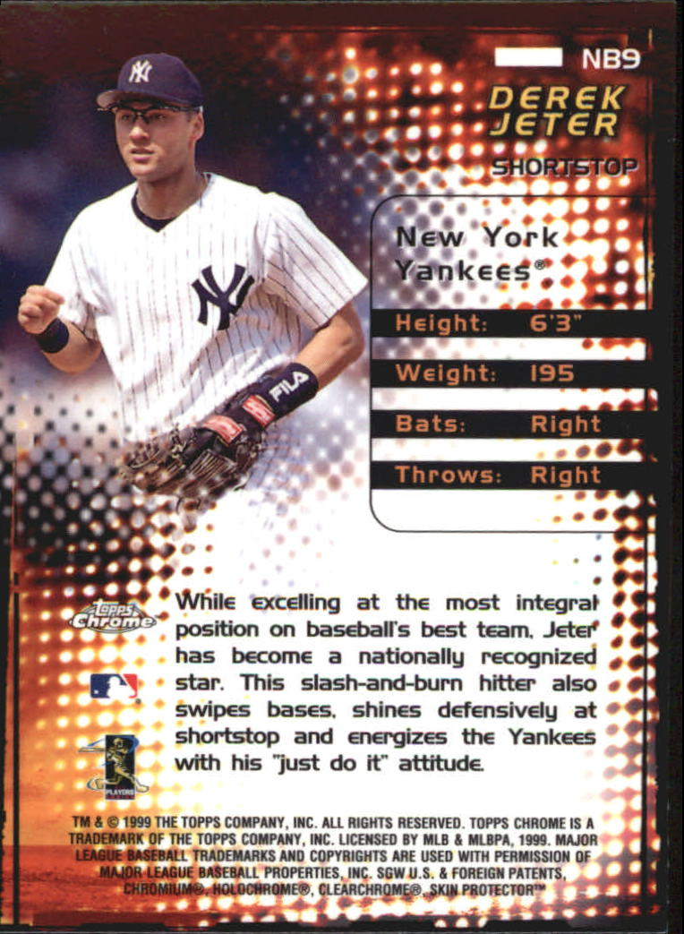 1999 Topps Chrome New Breed #NB9 Derek Jeter back image