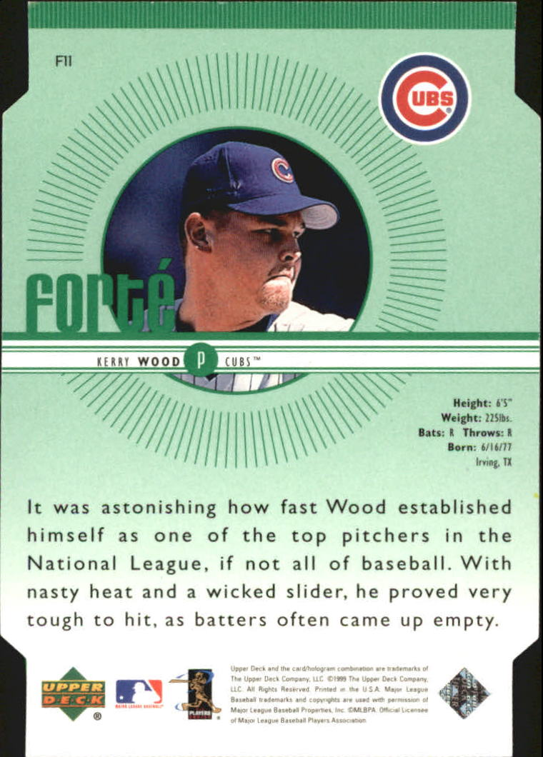 1999 Upper Deck Forte Double #F11 Kerry Wood