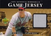 1999 Upper Deck Game Jersey #GM Greg Maddux HR2