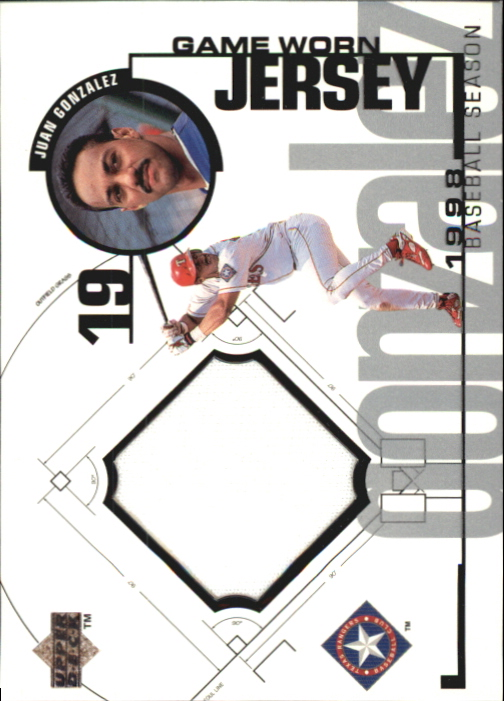 1999 Upper Deck Game Jersey #JG Juan Gonzalez HR1