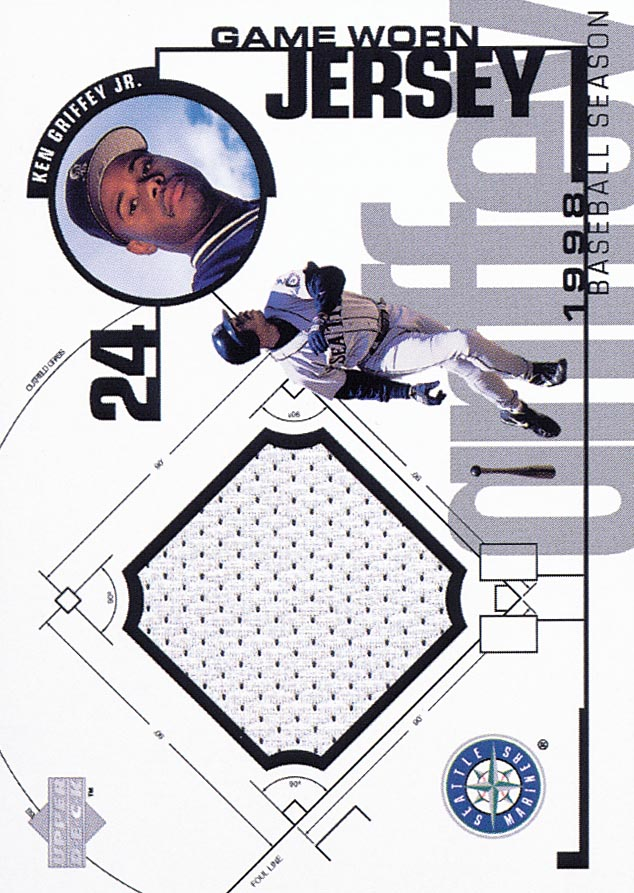 1999 Upper Deck Game Jersey #KG Ken Griffey Jr. H1