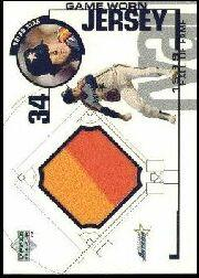 1999 Upper Deck Game Jersey #NRA N.Ryan Astros H2
