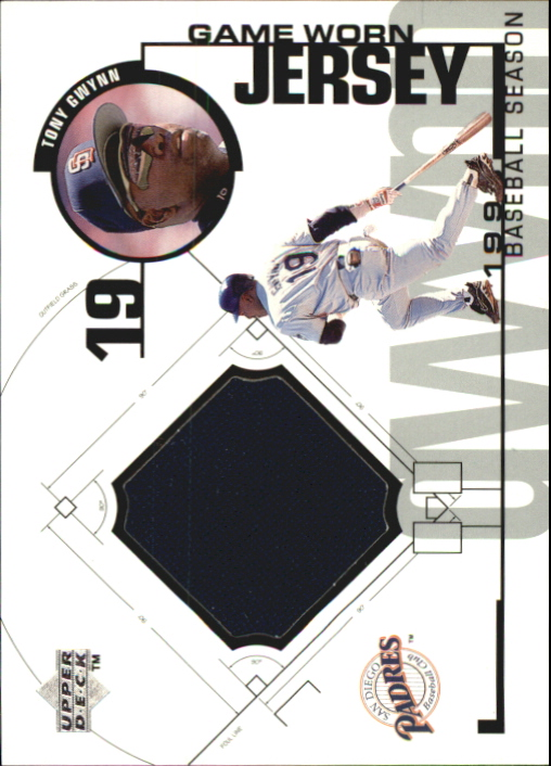 1999 Upper Deck Game Jersey #TGW Tony Gwynn H2