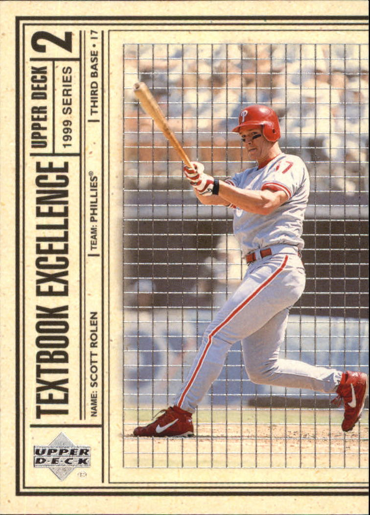 1999 Upper Deck Textbook Excellence #T20 Scott Rolen
