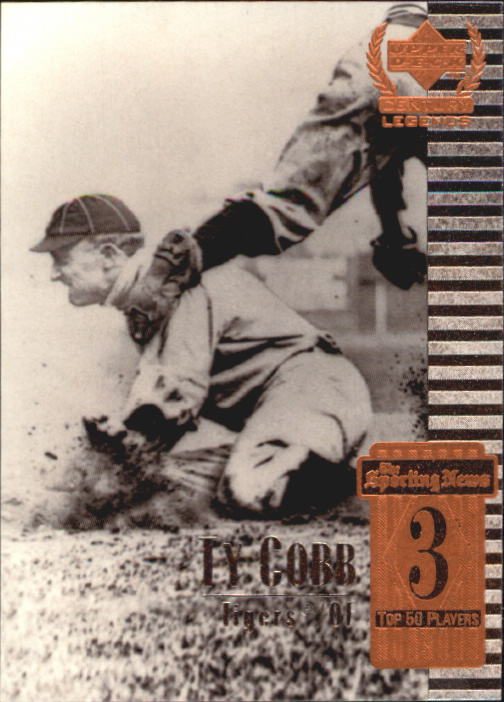 1999 Upper Deck Century Legends #3 Ty Cobb