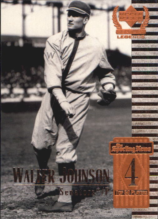 1999 Upper Deck Century Legends #4 Walter Johnson