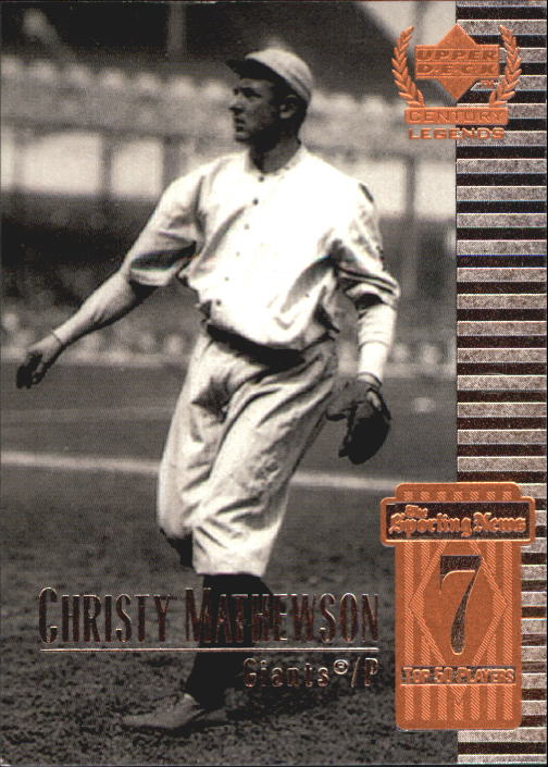 1999 Upper Deck Century Legends #7 Christy Mathewson front image