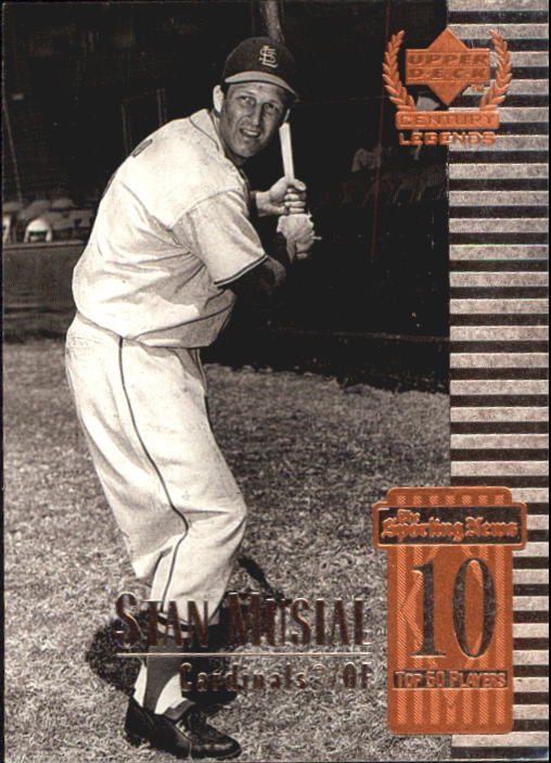 1999 Upper Deck Century Legends #10 Stan Musial