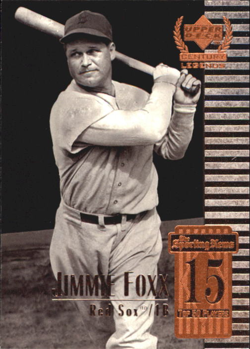 1999 Upper Deck Century Legends #15 Jimmie Foxx