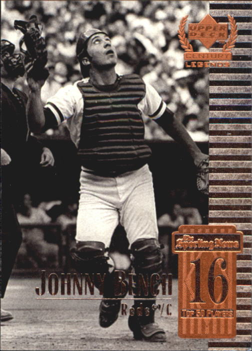 1999 Upper Deck Century Legends #16 Johnny Bench