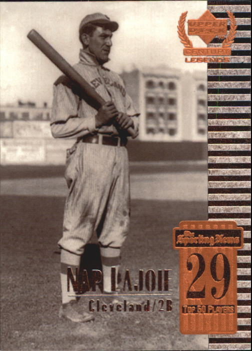 1999 Upper Deck Century Legends #29 Napoleon Lajoie