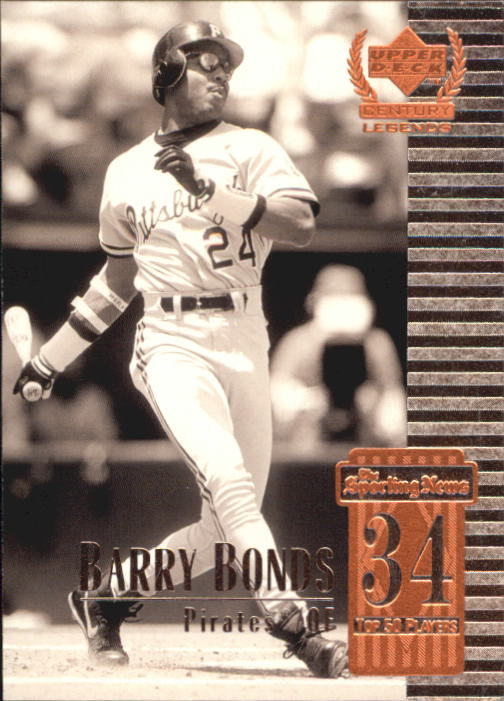 1999 Upper Deck Century Legends #34 Barry Bonds