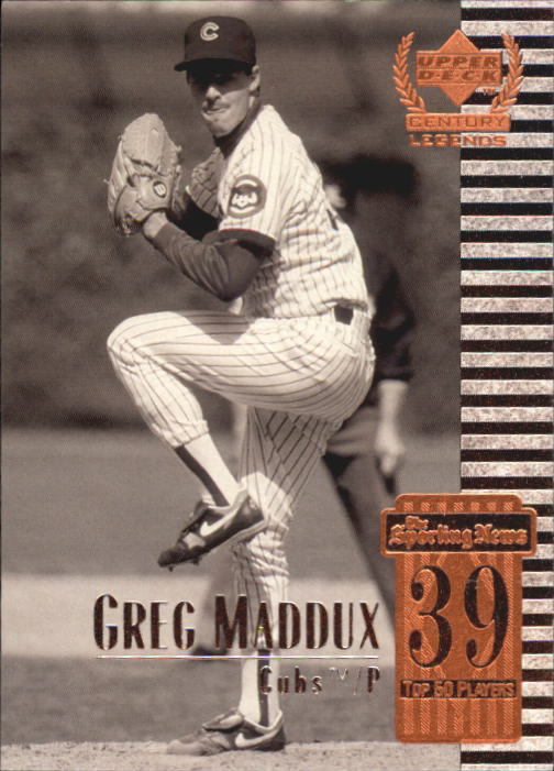 1999 Upper Deck Century Legends #39 Greg Maddux