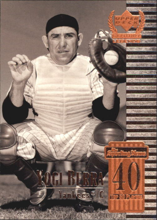 1999 Upper Deck Century Legends #40 Yogi Berra