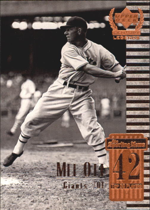 1999 Upper Deck Century Legends #42 Mel Ott