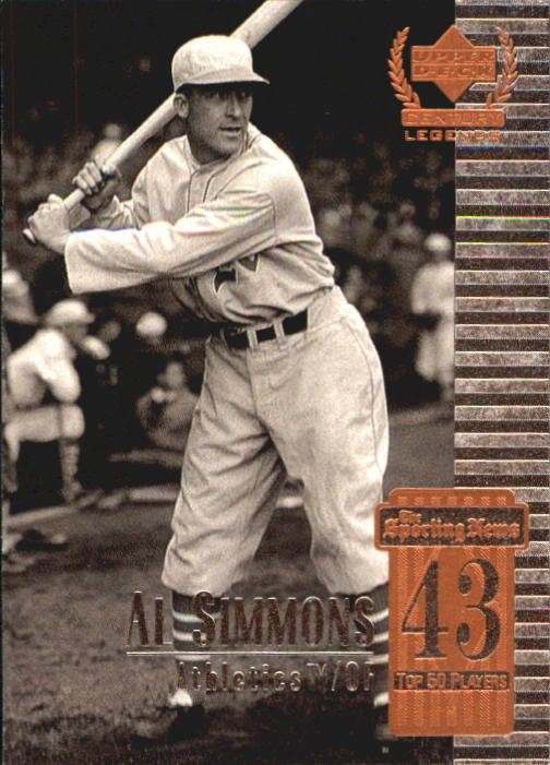 1999 Upper Deck Century Legends #43 Al Simmons