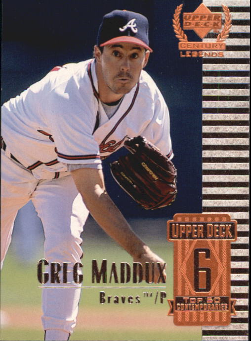 1999 Upper Deck Century Legends #56 Greg Maddux
