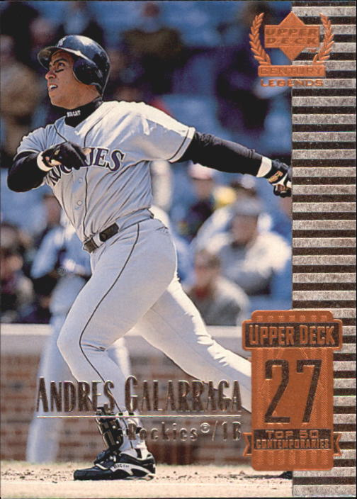 1999 Upper Deck Century Legends #77 Andres Galarraga