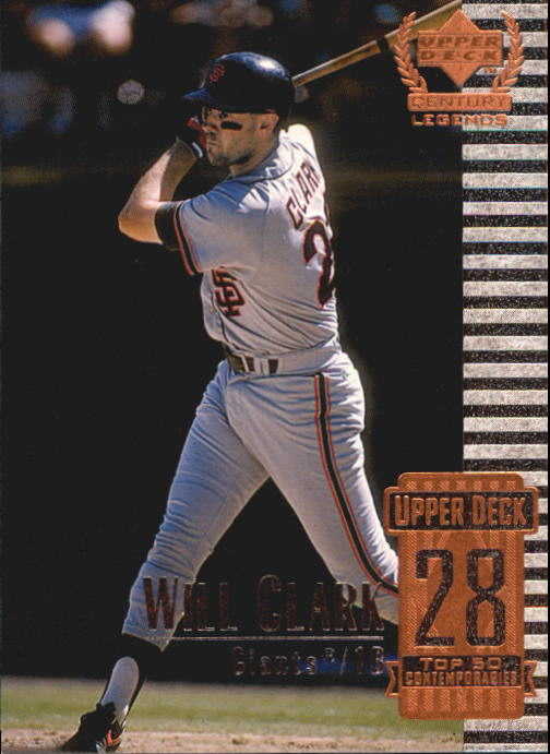 1999 Upper Deck Century Legends #78 Will Clark