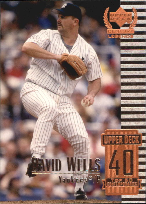 1999 Upper Deck Century Legends #90 David Wells