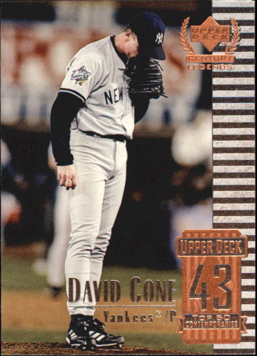 1999 Upper Deck Century Legends #93 David Cone