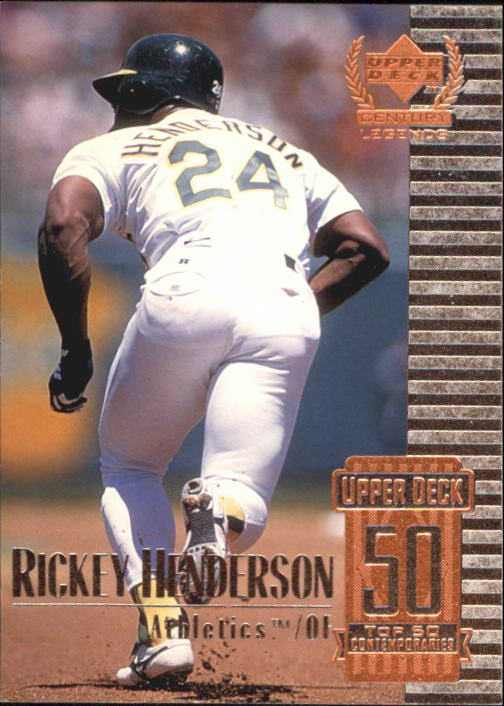 1999 Upper Deck Century Legends #100 Rickey Henderson