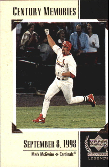 1999 Upper Deck Century Legends #125 Mark McGwire MEM