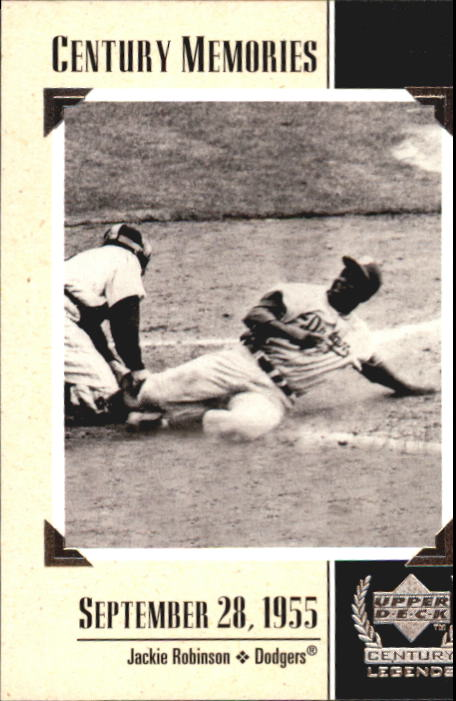 1999 Upper Deck Century Legends #132 Jackie Robinson MEM