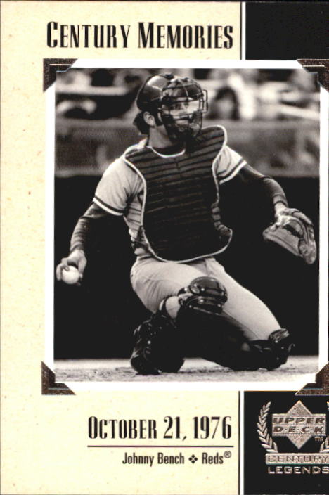 1999 Upper Deck Century Legends #134 Johnny Bench MEM