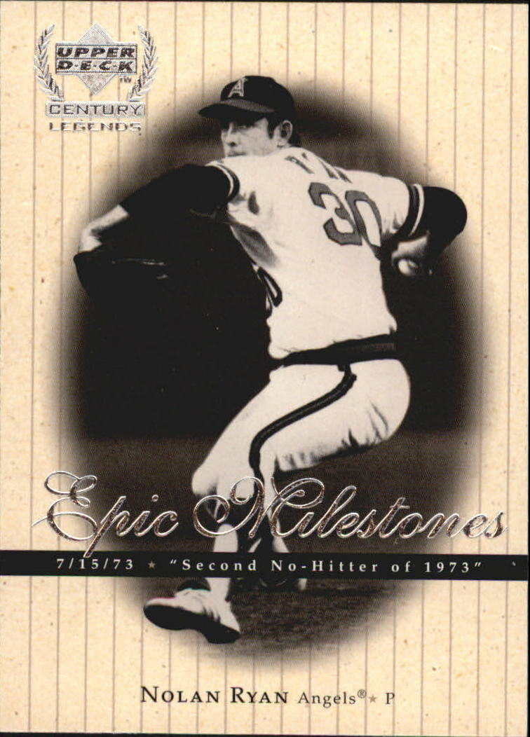 1999 Upper Deck Century Legends Epic Milestones #EM3 Nolan Ryan