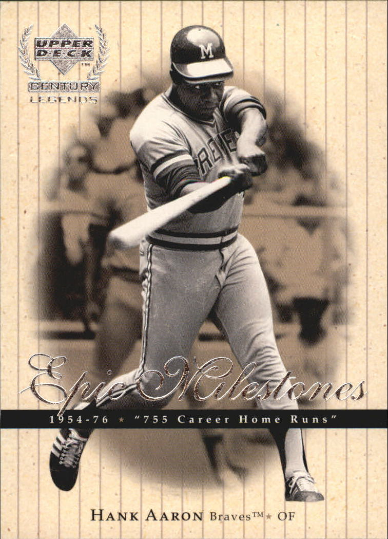 1999 Upper Deck Century Legends Epic Milestones #EM9 Hank Aaron